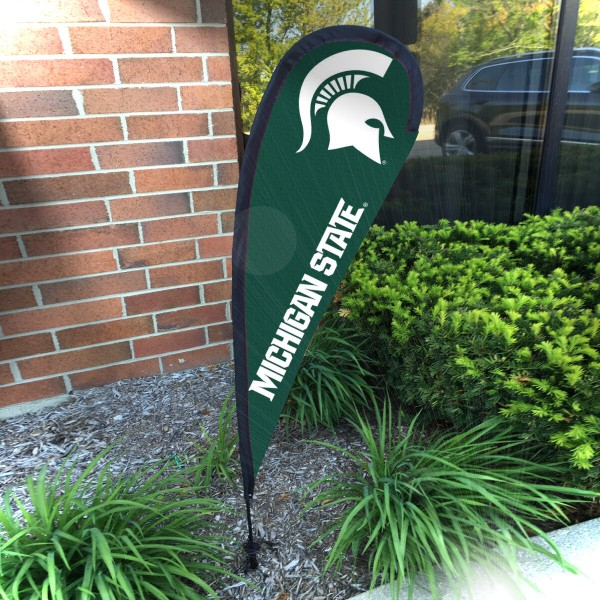 Michigan State Spartans Mini Teardrop Garden Flag