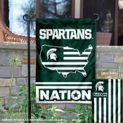 Michigan State Spartans Nation Garden Flag