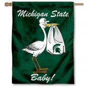 Michigan State Spartans New Baby Banner