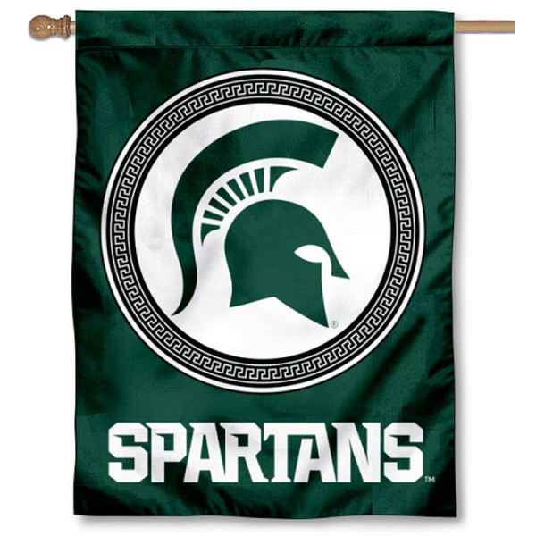 Michigan State Spartans Shield Banner Flag