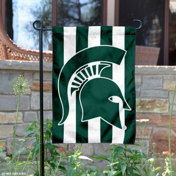 Michigan State Spartans Stripe Out Garden Flag
