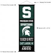 Michigan State Spartans Wall Banner and Door Scroll