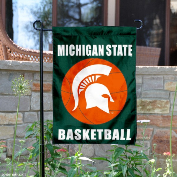 Michigan State University Basketball Garden Flag