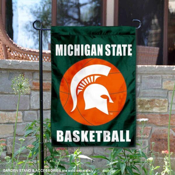 Michigan State University Basketball Garden Flag