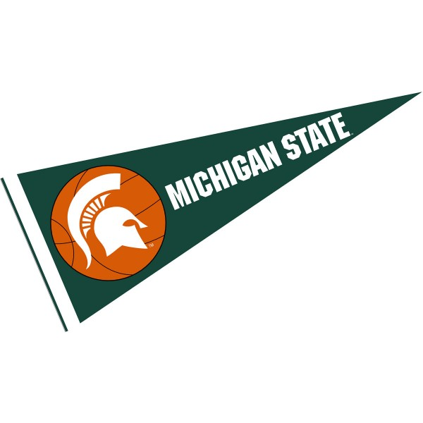 Michigan State University Basketball Pennant