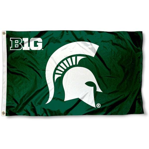 Michigan State University Big 10 Flag