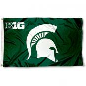 Michigan State University Big 10 Flag