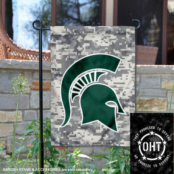 Michigan State University Operation Hat Trick OHT Double Sided Garden Flag