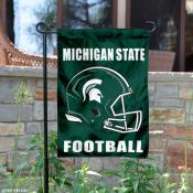 Michigan State University Spartans Football Garden Flag