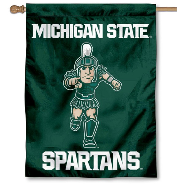 Michigan State University Sparty House Flag