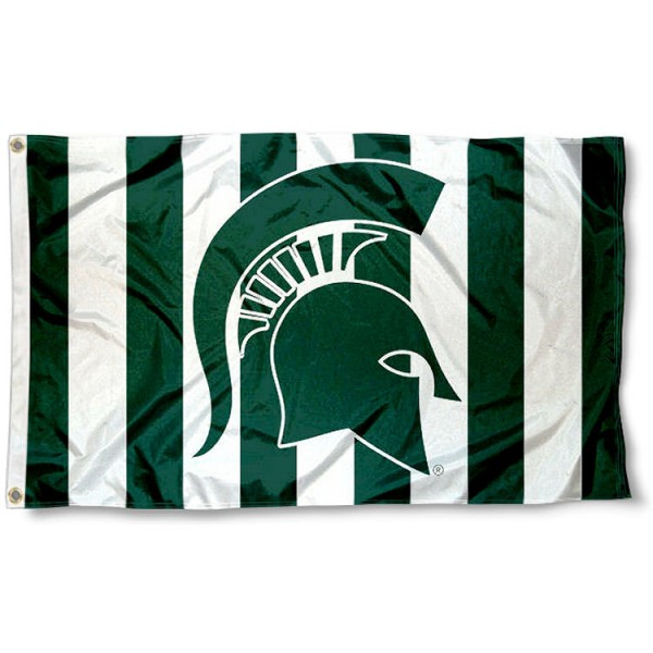 Michigan State University Stripe Out Flag