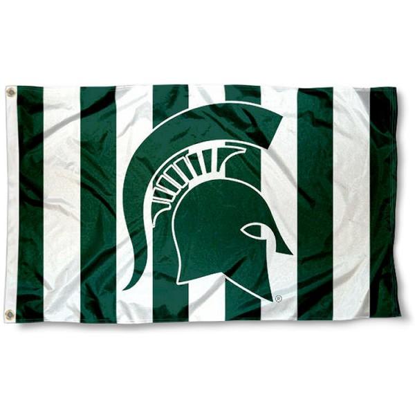 Michigan State University Stripe Out Flag