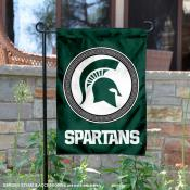 Michigan State University Two Sided Shield Garden Banner