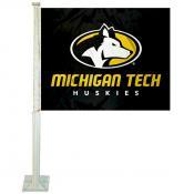 Michigan Tech Huskies Car Flag