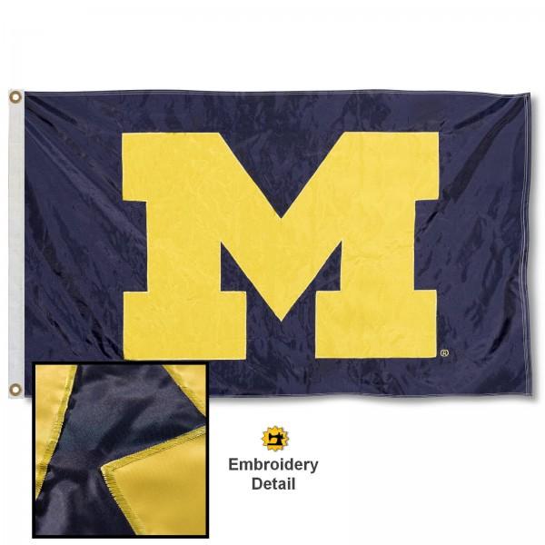 Michigan Wolverines Appliqued Nylon Flag
