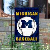 Michigan Wolverines Baseball Garden Flag