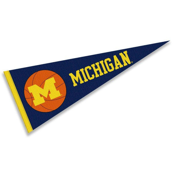 Michigan Wolverines Basketball Pennant
