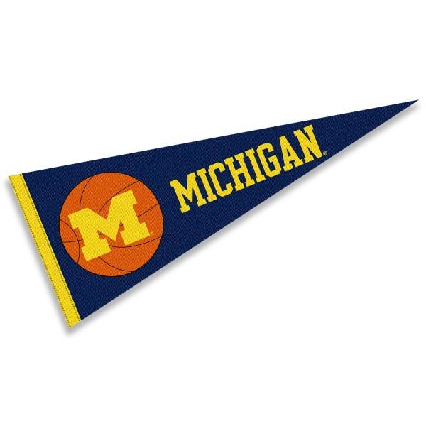 Michigan Wolverines Basketball Pennant