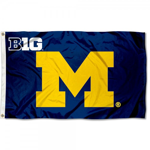 Michigan Wolverines Big Ten Flag