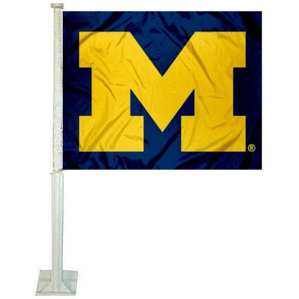 Michigan Wolverines Block M Car Flag