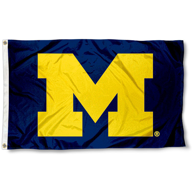 Michigan Wolverines Block M Flag