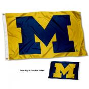 Michigan Wolverines Blue and Maize Logo Flag