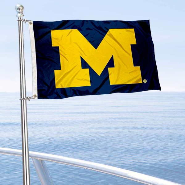 Michigan Wolverines Boat Flag