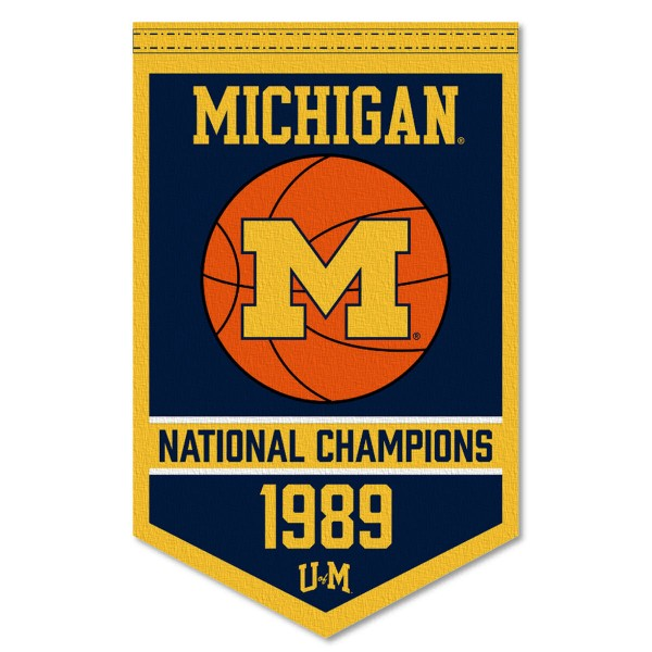 Michigan Wolverines College Basketball National Champions Banner