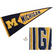 Michigan Wolverines Embroidered Wool Pennant