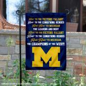 Michigan Wolverines Fight Song Garden Flag