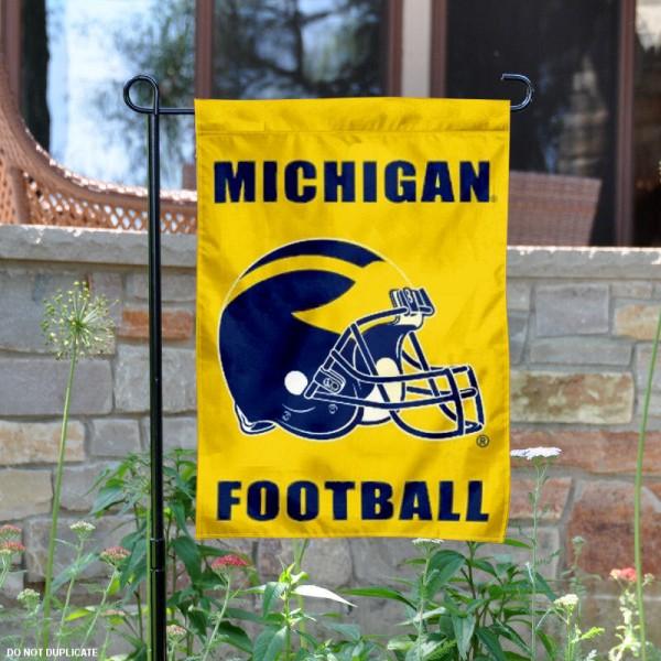 Michigan Wolverines Football Garden Flag