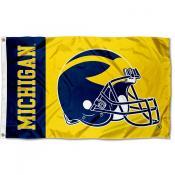 Michigan Wolverines Football Helmet Flag