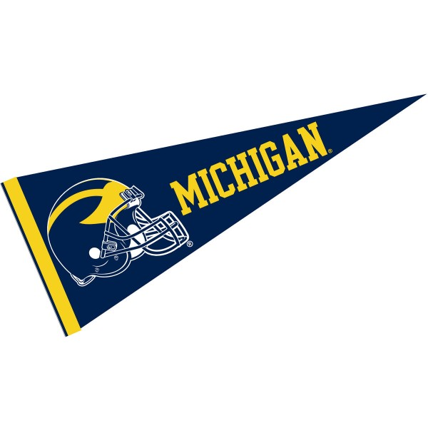 Michigan Wolverines Football Helmet Pennant