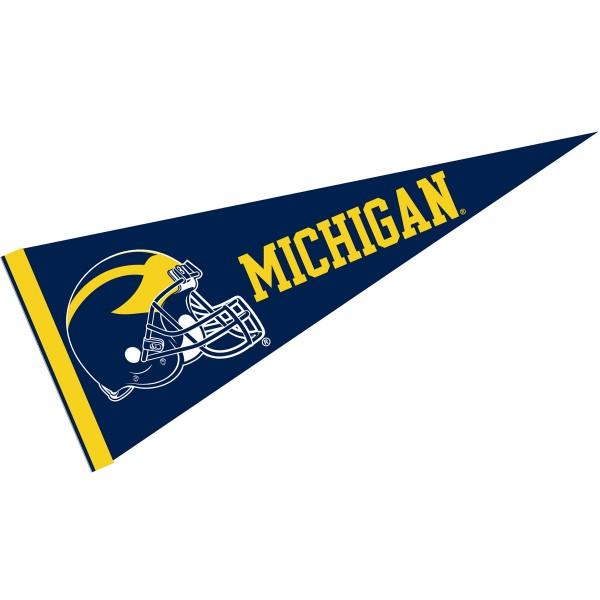 Michigan Wolverines Football Helmet Pennant