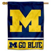Michigan Wolverines Go Blue House Flag