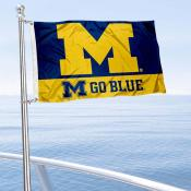 Michigan Wolverines Go Blue Nautical and Golf Cart Flag