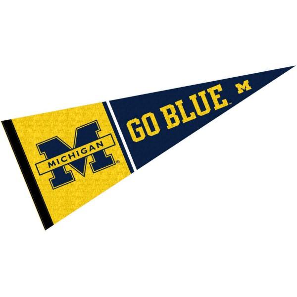 Michigan Wolverines Go Blue Slogan Pennant