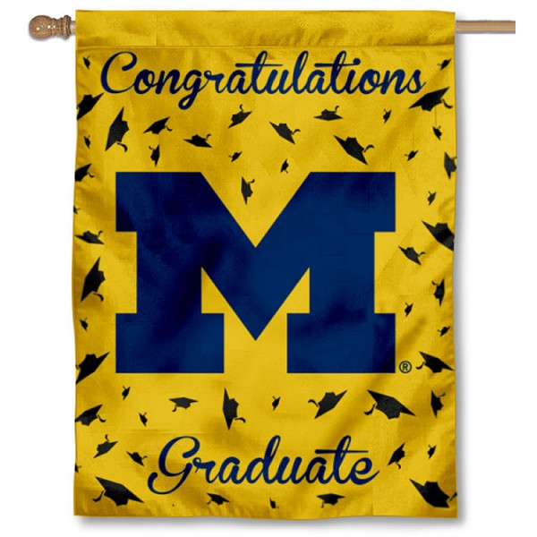 Michigan Wolverines Graduation Banner