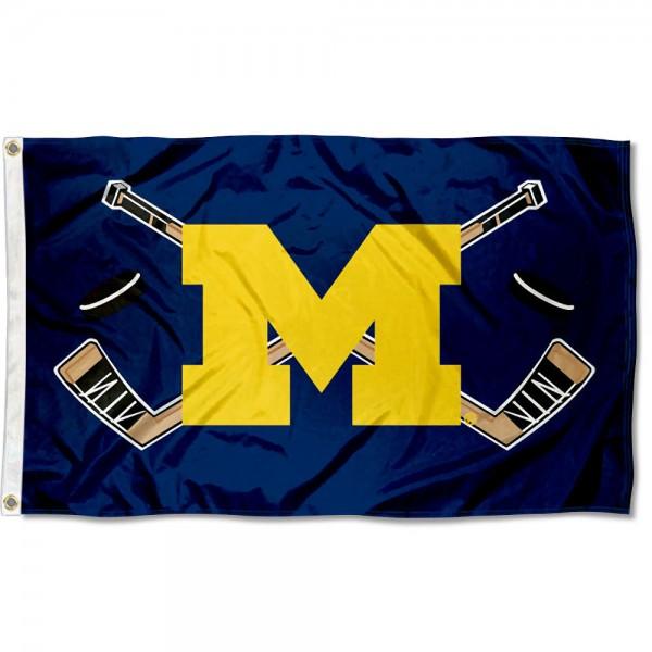 Michigan Wolverines Hockey Flag