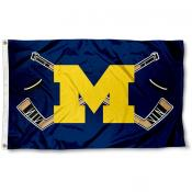 Michigan Wolverines Hockey Flag