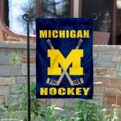 Michigan Wolverines Hockey Garden Flag