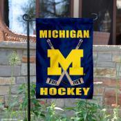 Michigan Wolverines Hockey Garden Flag