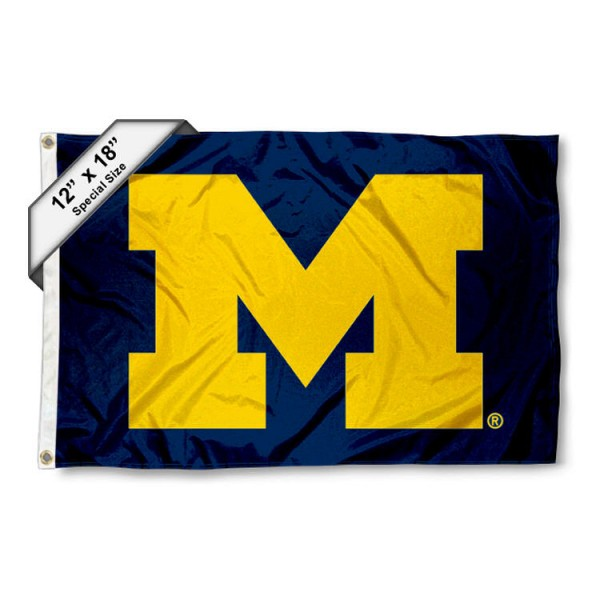Michigan Wolverines Mini Flag