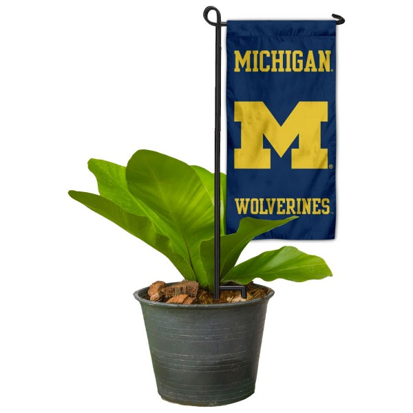 Michigan Wolverines Mini Garden Flag Marker