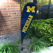 Michigan Wolverines Mini Teardrop Garden Flag