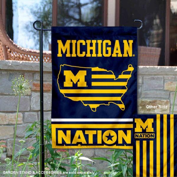 Michigan Wolverines Nation Garden Flag