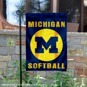 Michigan Wolverines Softball Garden Flag