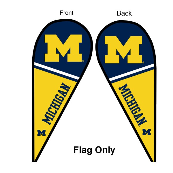 Michigan Wolverines Teardrop Flag