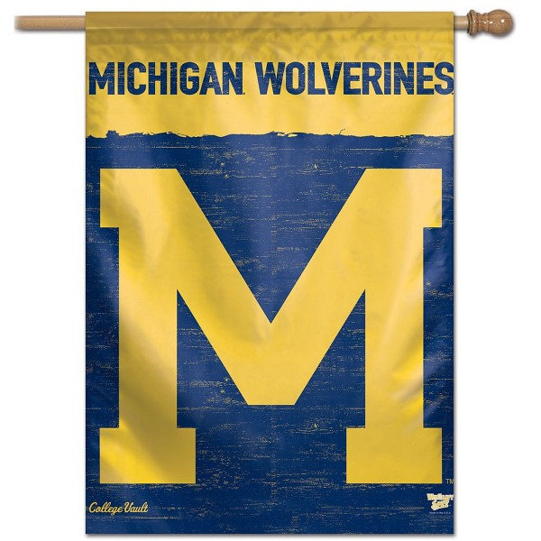 Michigan Wolverines Throwback Vintage House Flag