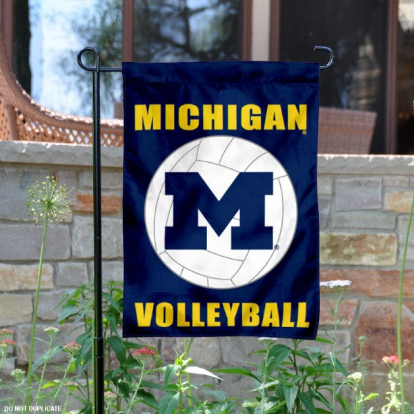 Michigan Wolverines Volleyball Garden Flag